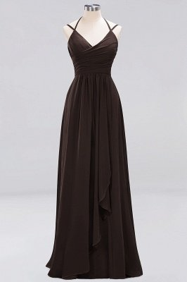 A-line Chiffon Spaghetti Straps Sleeveless Ruffles Floor-Length Bridesmaid Dresses_7