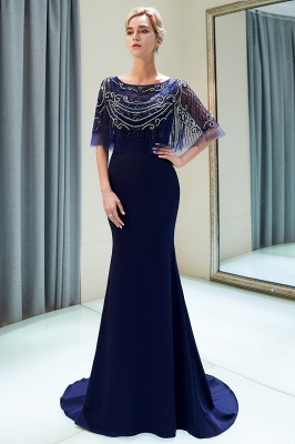 Mermaid Crystal Beading Floor Length Formal Party Dresses