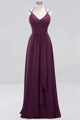 A-line Chiffon Spaghetti Straps Sleeveless Ruffles Floor-Length Bridesmaid Dresses_12
