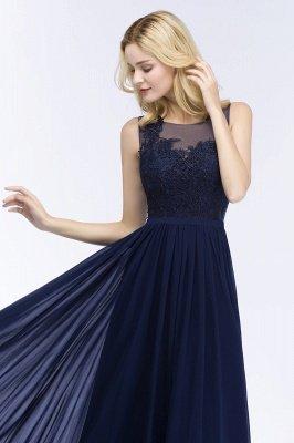 Chiffon Appliques Scoop Sleeveless Floor-Length Bridesmaid Dresses_4