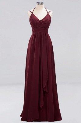 A-line Chiffon Spaghetti Straps Sleeveless Ruffles Floor-Length Bridesmaid Dresses_27