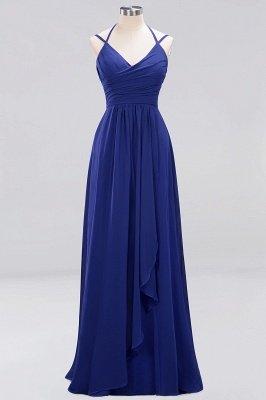 A-line Chiffon Spaghetti Straps Sleeveless Ruffles Floor-Length Bridesmaid Dresses_16