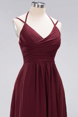 A-line Chiffon Spaghetti Straps Sleeveless Ruffles Floor-Length Bridesmaid Dresses_30