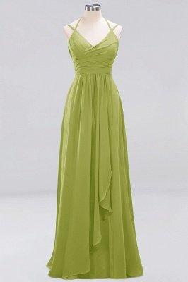 A-line Chiffon Spaghetti Straps Sleeveless Ruffles Floor-Length Bridesmaid Dresses_20