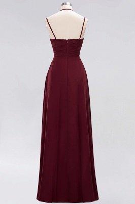 A-line Chiffon Spaghetti Straps Sleeveless Ruffles Floor-Length Bridesmaid Dresses_28