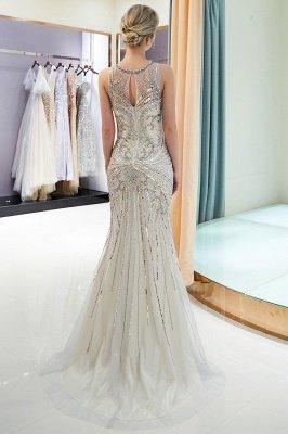 Glamorous Beading Mermaid Sleeveless Long Evening Dresses_5