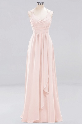 A-line Chiffon Spaghetti Straps Sleeveless Ruffles Floor-Length Bridesmaid Dresses_4