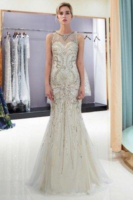Glamorous Beading Mermaid Sleeveless Long Evening Dresses_2