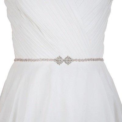 Elegant Satin Shinny Rhinestone Wedding Sashes