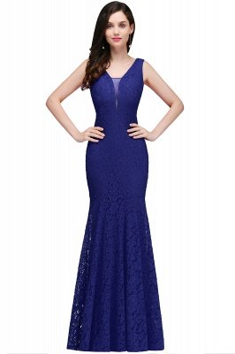 CLARISSA  Mermaid Floor-length Lace Red Prom Dress_2