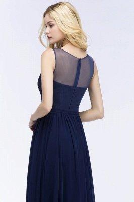 Chiffon Appliques Scoop Sleeveless Floor-Length Bridesmaid Dresses_5