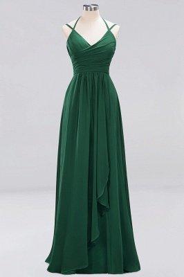 A-line Chiffon Spaghetti Straps Sleeveless Ruffles Floor-Length Bridesmaid Dresses_18