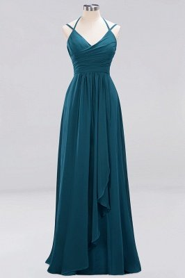 A-line Chiffon Spaghetti Straps Sleeveless Ruffles Floor-Length Bridesmaid Dresses_17