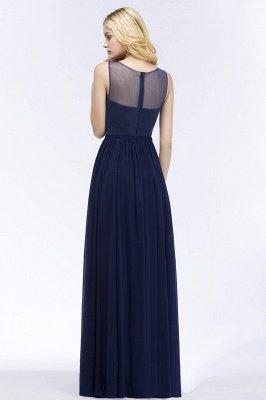 Chiffon Appliques Scoop Sleeveless Floor-Length Bridesmaid Dresses_2