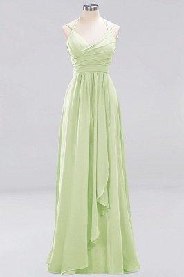 A-line Chiffon Spaghetti Straps Sleeveless Ruffles Floor-Length Bridesmaid Dresses_21