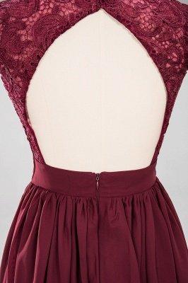 A-line Chiffon Lace V-Neck Sleeveless Floor-Length Bridesmaid Dresses with Ruffles_7