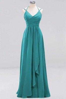 A-line Chiffon Spaghetti Straps Sleeveless Ruffles Floor-Length Bridesmaid Dresses_19