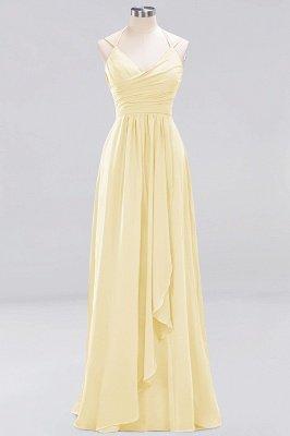 A-line Chiffon Spaghetti Straps Sleeveless Ruffles Floor-Length Bridesmaid Dresses_10