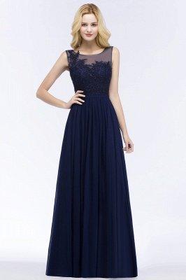 Chiffon Appliques Scoop Sleeveless Floor-Length Bridesmaid Dresses_1
