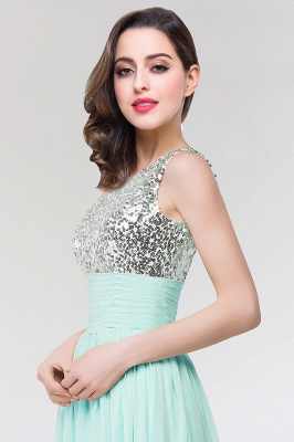A-line Chiffon One-Shoulder Sleeveless Floor-Length Bridesmaid Dress with Sequins_4
