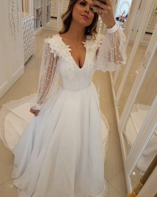 Fashion Long Sleeves Beading Tulle  Flower Prom Dress_1