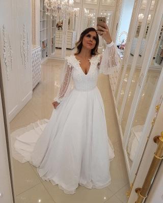 Fashion Long Sleeves Beading Tulle  Flower Prom Dress_3