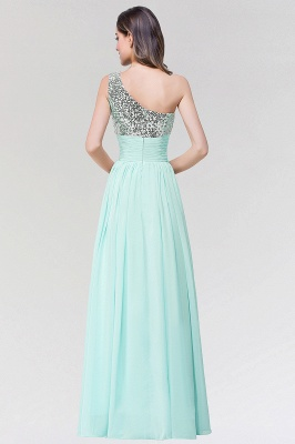 A-line Chiffon One-Shoulder Sleeveless Floor-Length Bridesmaid Dress with Sequins_2