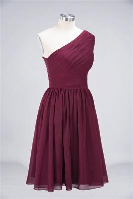 Elegant Princess Chiffon One-Shoulder Sleeveless Knee-Length Bridesmaid Dress with Ruffles_4