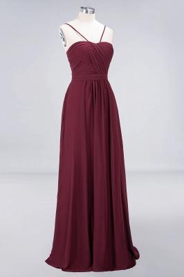 Elegant Princess Chiffon Sweetheart Spaghetti-Straps Backless Floor-Length Bridesmaid Dress with Ruffles_3