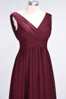 Elegant Princess Chiffon Straps V-Neck Sleeveless Floor-Length Bridesmaid Dress with Ruffles_5