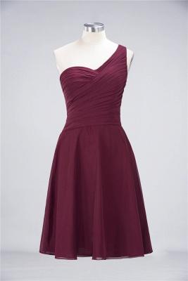 Elegant Princess Chiffon One-Shoulder Sweetheart Sleeveless Knee-Length Bridesmaid Dress with Ruffles_35