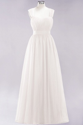 Chiffon Sweetheart Straps Sleeves Floor-Length Bridesmaid Dresses with Ruffles_2