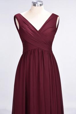 Elegant Princess Chiffon Straps V-Neck Sleeveless Floor-Length Bridesmaid Dress with Ruffles_4