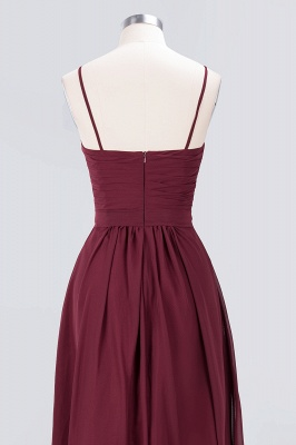 Elegant Princess Chiffon Sweetheart Spaghetti-Straps Backless Floor-Length Bridesmaid Dress with Ruffles_6