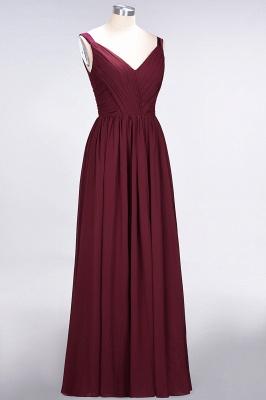 Elegant Princess Chiffon Straps V-Neck Sleeveless Backless Floor-Length Bridesmaid Dress with Ruffles_4