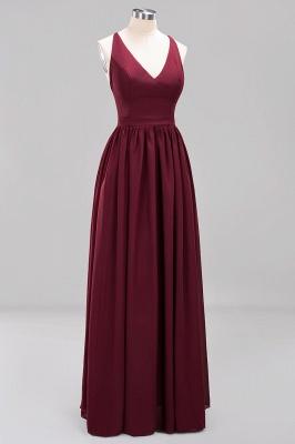 | A-Line Chiffon Lace V-Neck Sleeveless Straps Floor-Length Bridesmaid Dresses_44