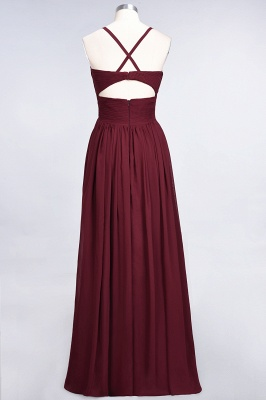 Elegant Princess Chiffon Spaghetti-Straps V-Neck Sleeveless Floor-Length Bridesmaid Dress with Ruffles_36