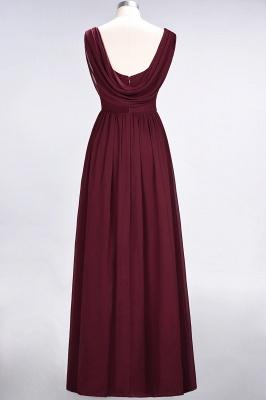 Elegant Princess Chiffon Straps V-Neck Sleeveless Floor-Length Bridesmaid Dress with Ruffles_2