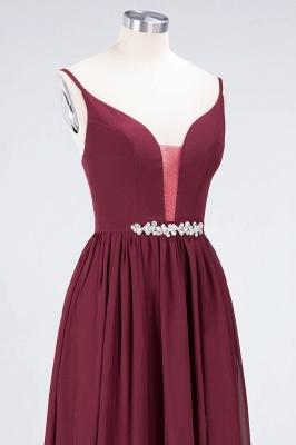 Elegant Princess Chiffon Appliques Spaghetti-Straps Deep-V-Neck Sleeveless Floor-Length Bridesmaid Dress with Ruffles_5