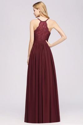 | A-Line Chiffon Lace V-Neck Sleeveless Straps Floor-Length Bridesmaid Dresses_36