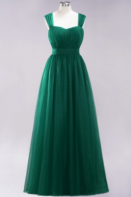 Chiffon Sweetheart Straps Sleeves Floor-Length Bridesmaid Dresses with Ruffles_30
