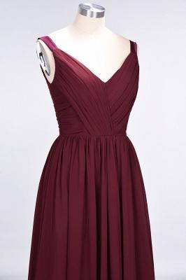 Elegant Princess Chiffon Straps V-Neck Sleeveless Backless Floor-Length Bridesmaid Dress with Ruffles_6