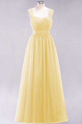 Chiffon Sweetheart Straps Sleeves Floor-Length Bridesmaid Dresses with Ruffles_48