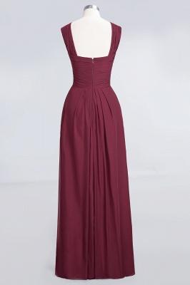 Elegant Princess Chiffon V-Neck Straps Sleeveless Floor-Length Bridesmaid Dress with Ruffles_2