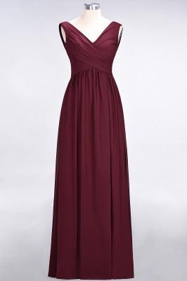 Elegant Princess Chiffon Straps V-Neck Sleeveless Floor-Length Bridesmaid Dress with Ruffles_1