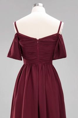 Chiffon V-Neck Spaghetti Straps Short-Sleeves Floor-Length Bridesmaid Dresses with Ruffles_13