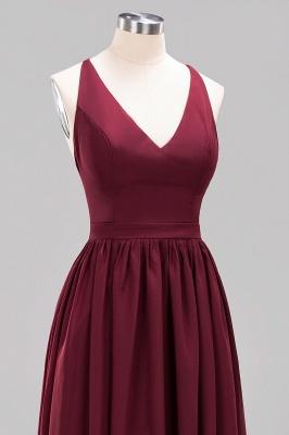 | A-Line Chiffon Lace V-Neck Sleeveless Straps Floor-Length Bridesmaid Dresses_46