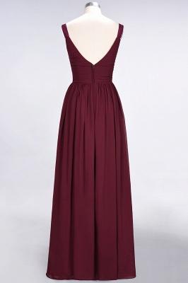 Elegant Princess Chiffon Straps V-Neck Sleeveless Backless Floor-Length Bridesmaid Dress with Ruffles_3