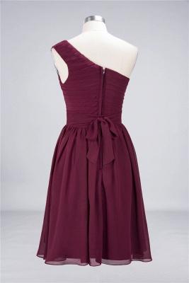 Elegant Princess Chiffon One-Shoulder Sleeveless Knee-Length Bridesmaid Dress with Ruffles_3
