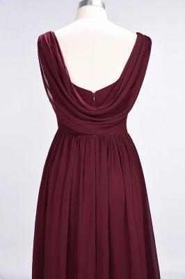 Elegant Princess Chiffon Straps V-Neck Sleeveless Floor-Length Bridesmaid Dress with Ruffles_6